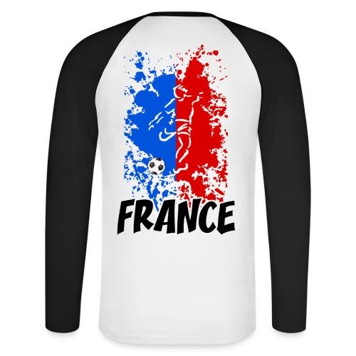 Football tricolore - Men's Long Sleeve Baseball T-Shirt