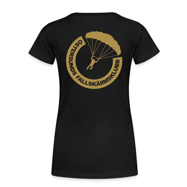 ÖFSK T-shirt Dam Guldglittertryck SAFETY THIRD!