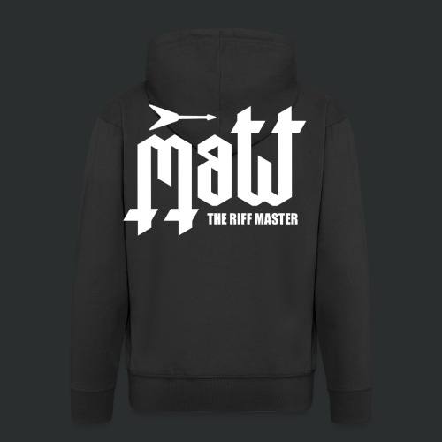 Matt The Riff Master Logo Zip Hoodie - Men's Premium Hooded Jacket