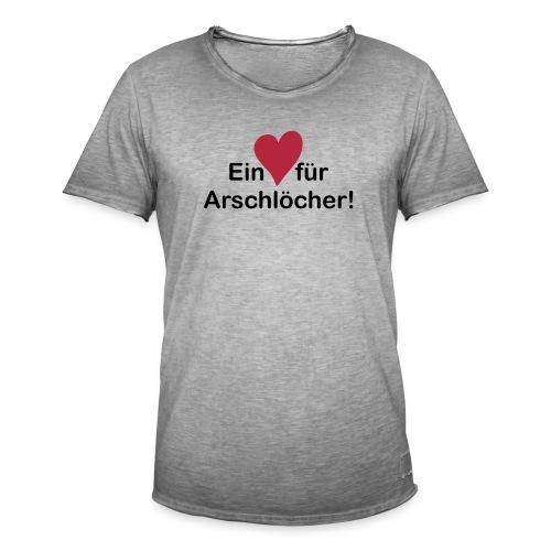 Ein Herz Für Arschlöcher - Männer Vintage T-Shirt