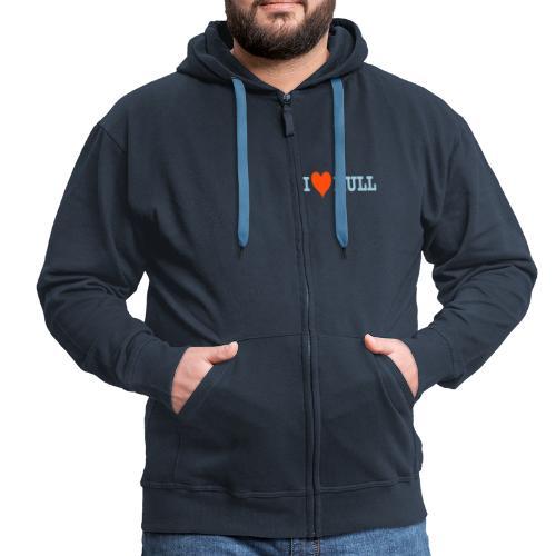 L Love Hull (his) - Men's Premium Hooded Jacket