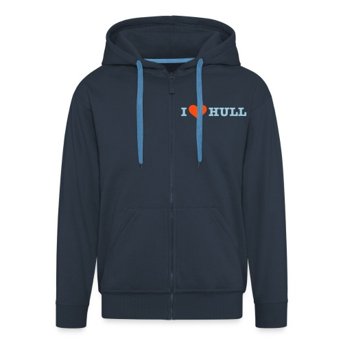 L Love Hull (his) - Men's Premium Hooded Jacket