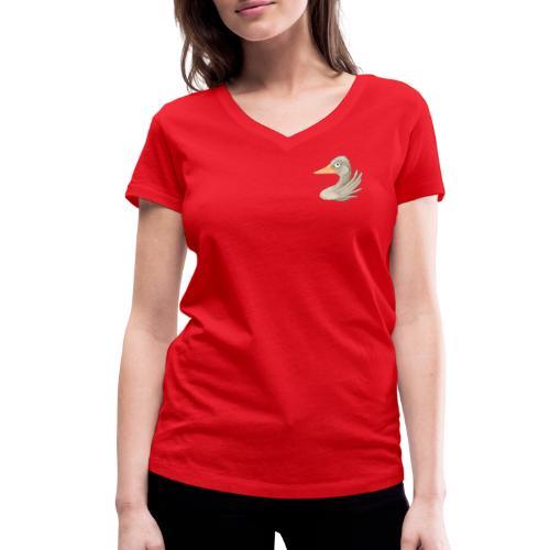 wilde Gans - Frauen Bio-T-Shirt V-Ausschnitt - Frauen Bio-T-Shirt mit V-Ausschnitt von Stanley & Stella