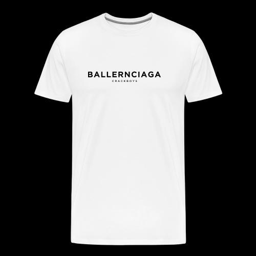BALLERNCIAGA CRACKBOYS - Männer Premium T-Shirt