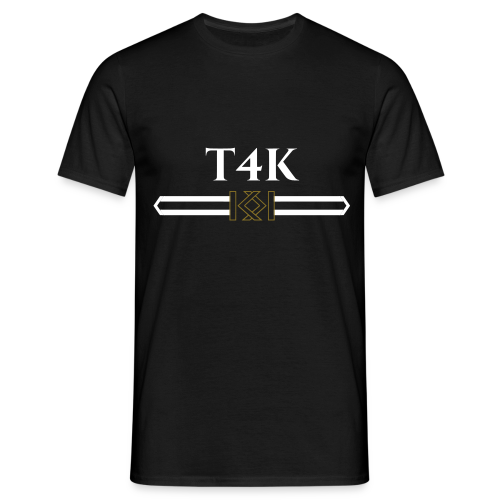 T4KXKUKKI SHIRT WHITE_GOLD - Männer T-Shirt