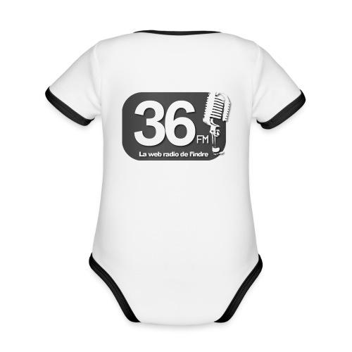 body bébé noir/blanc - Body Bébé bio contrasté manches courtes