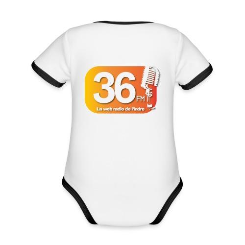 body bébé - Body Bébé bio contrasté manches courtes