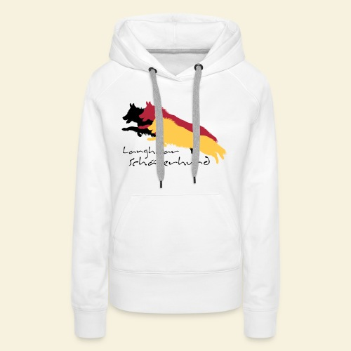 Langhaar Schäferhund - Frauen Premium Hoodie