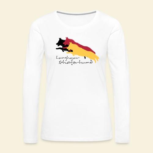 Langhaar Schäferhund - Frauen Premium Langarmshirt