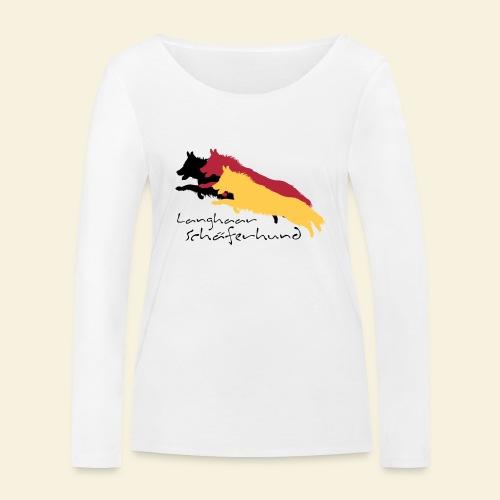 Langhaar Schäferhund - Frauen Bio-Langarmshirt von Stanley & Stella