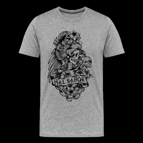 Catrina Tattoo Design Black - Männer Premium T-Shirt