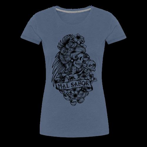 Catrina Tattoo Design Black - Frauen Premium T-Shirt