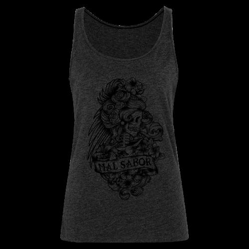 Catrina Tattoo Design Black - Frauen Premium Tank Top