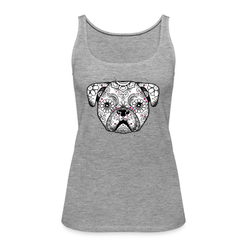 Puppy Calavera BW - Frauen Premium Tank Top