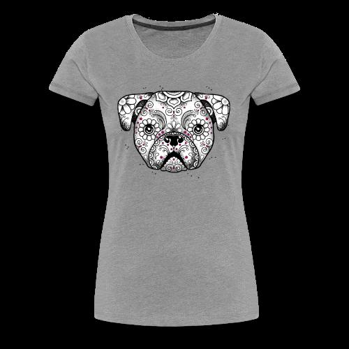 Puppy Calavera BW - Frauen Premium T-Shirt