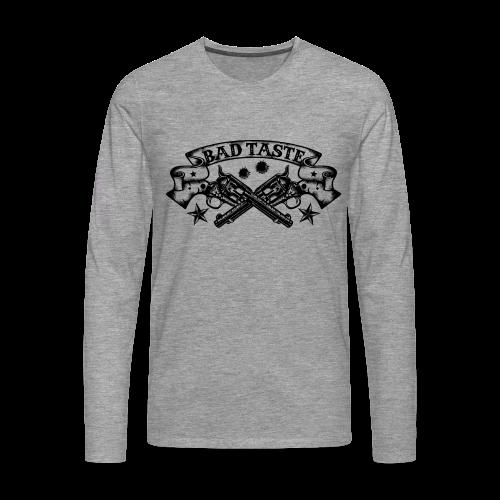 Crossed Revolver - Männer Premium Langarmshirt