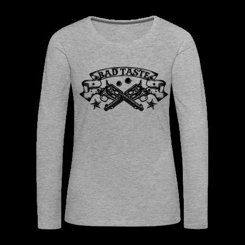 Crossed Revolver - Frauen Premium Langarmshirt