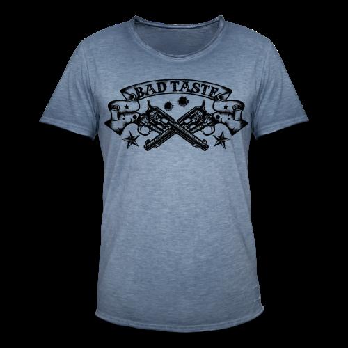 Crossed Revolver - Männer Vintage T-Shirt