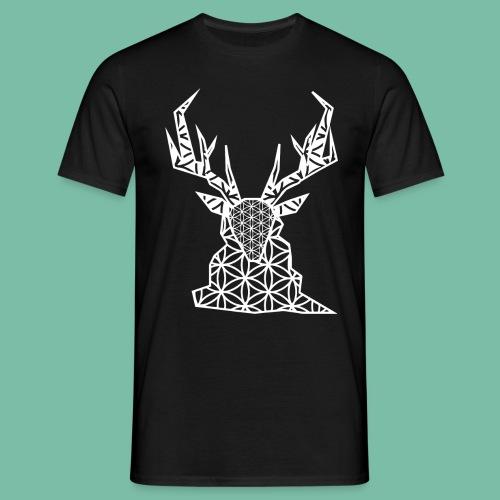 Tshirt homme cerf blanc géométrie sacrée - T-shirt Homme