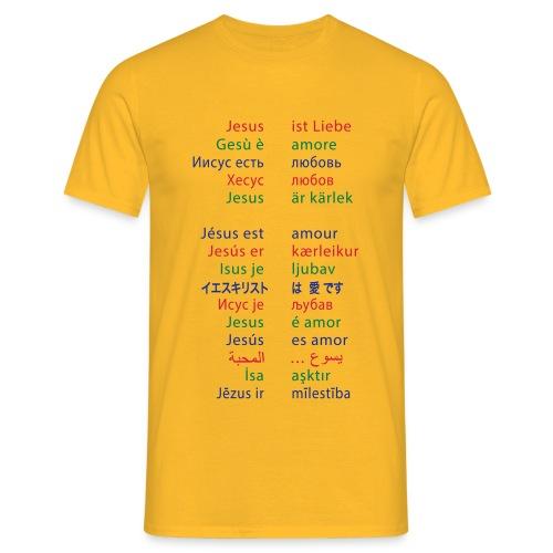Jesus ist Liebe - Männer T-Shirt