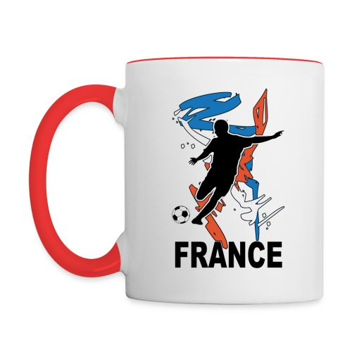 Football bleu blanc rouge - Contrasting Mug