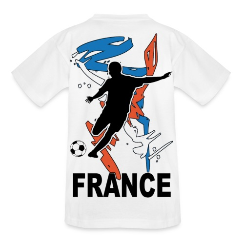 Football bleu blanc rouge - Teenage T-Shirt