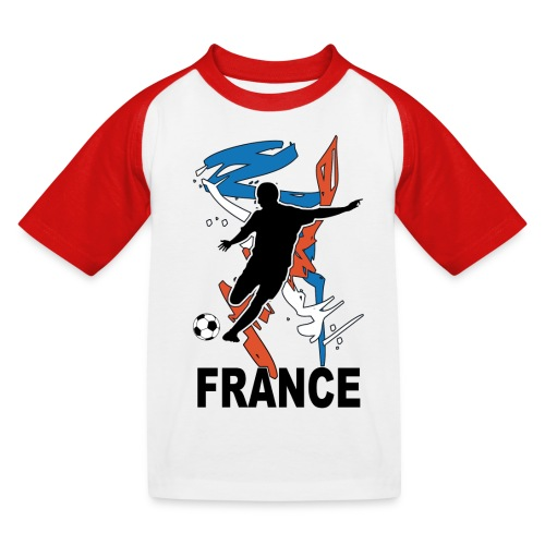 Football bleu blanc rouge - Kids' Baseball T-Shirt
