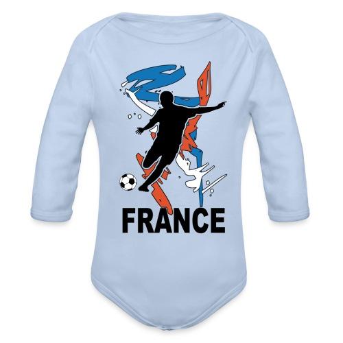 Football bleu blanc rouge - Organic Longsleeve Baby Bodysuit