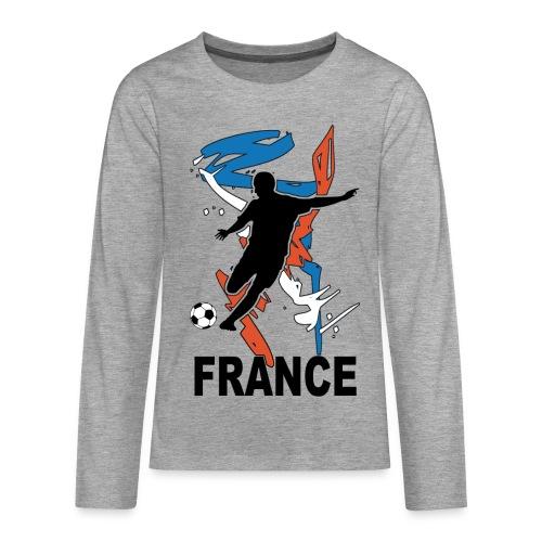 Football bleu blanc rouge - Teenagers' Premium Longsleeve Shirt
