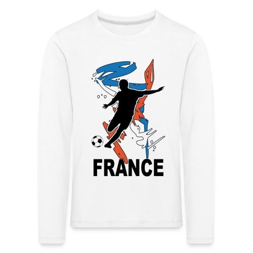 Football bleu blanc rouge - Kids' Premium Longsleeve Shirt