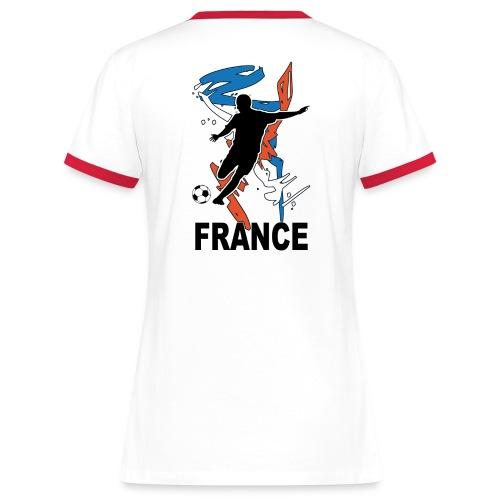 Football bleu blanc rouge - Women's Ringer T-Shirt