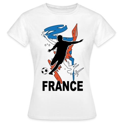Football bleu blanc rouge - Women's T-Shirt