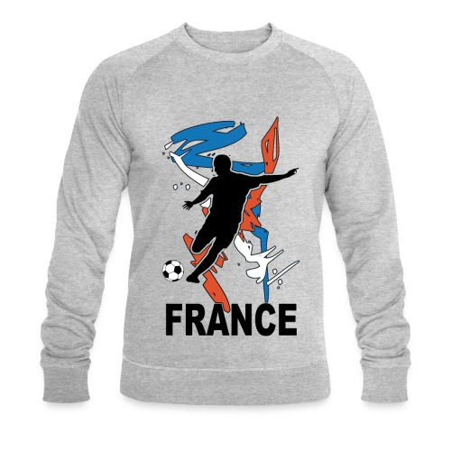 Football bleu blanc rouge - Men's Organic Sweatshirt by Stanley & Stella