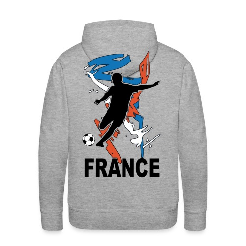 Football bleu blanc rouge - Men's Premium Hoodie