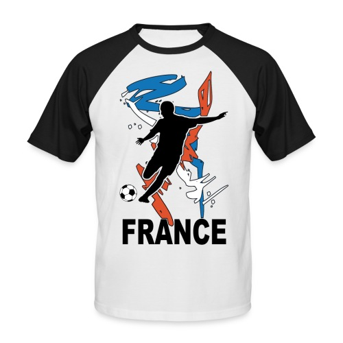 Football bleu blanc rouge - Men's Baseball T-Shirt