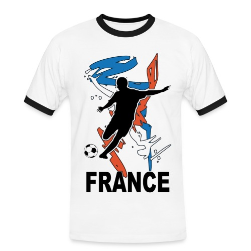 Football bleu blanc rouge - Men's Ringer Shirt