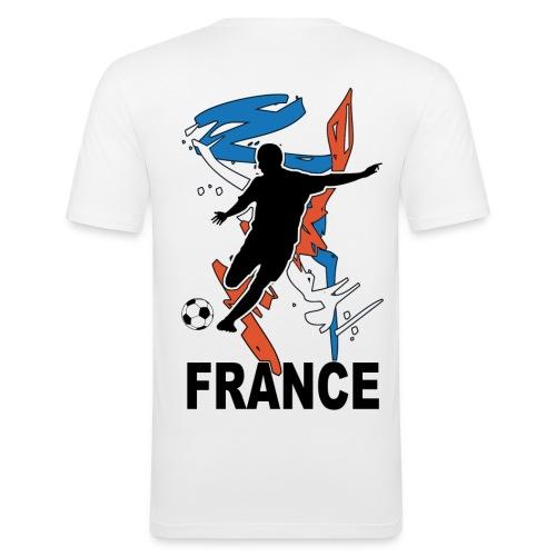 Football bleu blanc rouge - T-shirt près du corps Homme