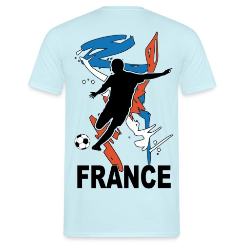 Football bleu blanc rouge - Men's T-Shirt