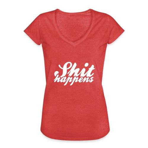 'Shit Happens' Philosophy Quotes - Women's Vintage T-Shirt
