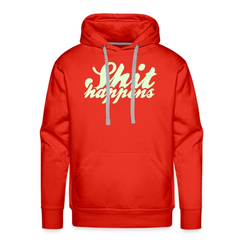 'Shit Happens' Philosophy Quotes - Men's Premium Hoodie