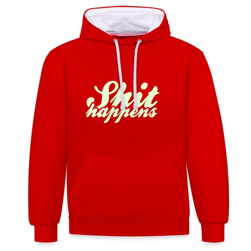 'Shit Happens' Philosophy Quotes - Contrast Colour Hoodie