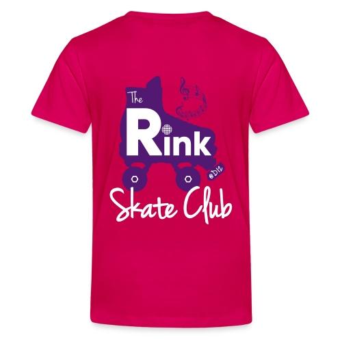 Teenage The Rink @D12 Skate Club (Pink) - Teenage Premium T-Shirt