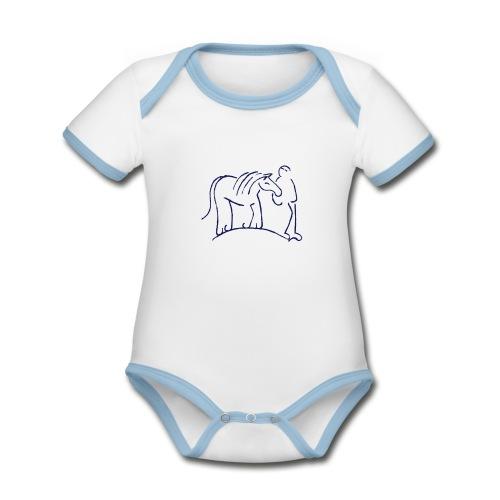 Walking Together - Baby Bio-Kurzarm-Kontrastbody
