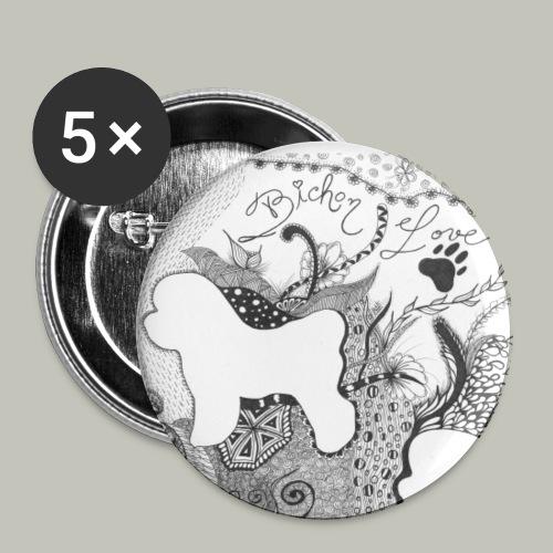 Buttons - Buttons groß 56 mm (5er Pack)