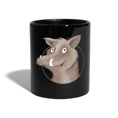 freches Wildschwein - Tasse farbig - Tasse einfarbig