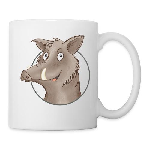 freches Wildschwein - Tasse weiß  - Tasse