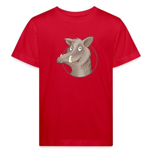 freches Wildschwein - Kinder Bio-T-Shirt - Kinder Bio-T-Shirt