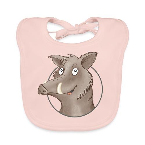 freches Wildschwein - Baby Bio-Lätzchen - Baby Bio-Lätzchen