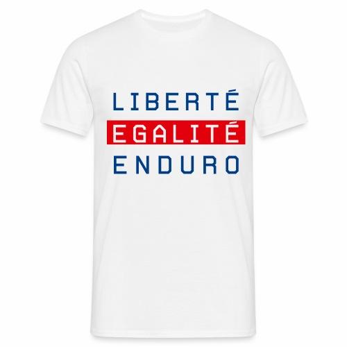 Liberté égalité enduro  - T-shirt Homme