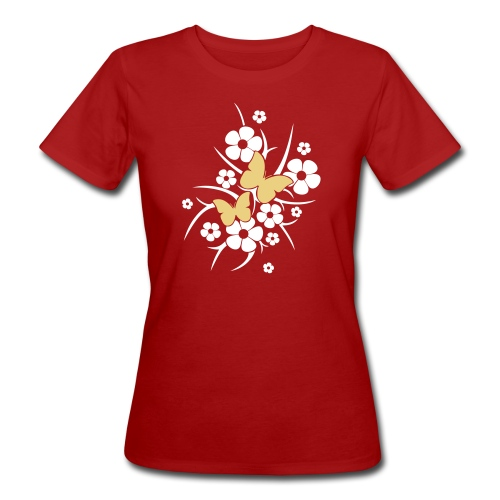 Schmetterlings-Blumen - Frauen Bio-T-Shirt  - Frauen Bio-T-Shirt